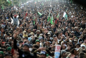 Qadri's supporters gathered in Islamabad.
