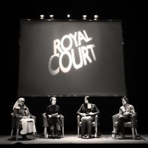 L-R: Humera Khan, Laura Zahra McDonald, me, Sabrina Mahfouz.
